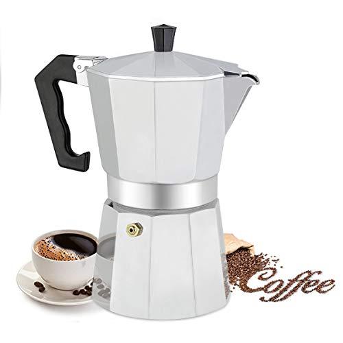 Cafetera Italiana de Aluminio, Capacidad para 6 Tazas