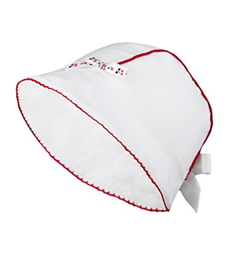 Wegener Mädchen Baby Sommer Mütze Sommerhut UV-Schutz 40+ 100% Cotton Sonnenhut in Weiss Größe 46/47 (Piraten-baseball-jersey)