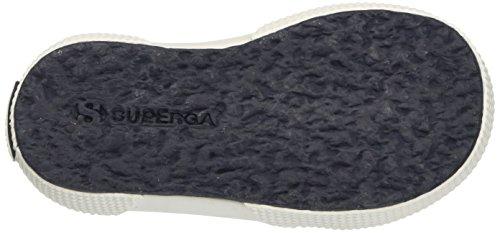 Superga 2750-fabricembroideryflowersj, Sneakers basses fille Multicolore (Blue/Silver)