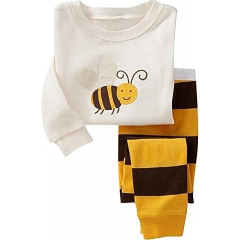 "Milanao Boys Baby "", 2 pezzi, 100% cotone, motivo a maniche lunghe Homewear Sleep & Pajama Set maglietta, pantaloni, 2-7 anni"