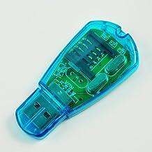 SODIAL (R) Lettore di scheda SIM cellulare USB per SMS Backup a PC