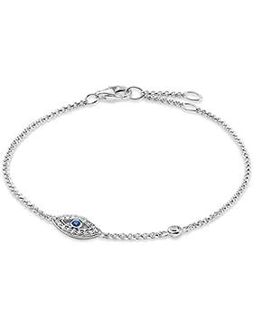 Thomas Sabo Damen-Armband Glam & Soul 925 Sterling Silber blau Länge von 16.5 bis 19.5 cm A1383-412-32-L19,5v