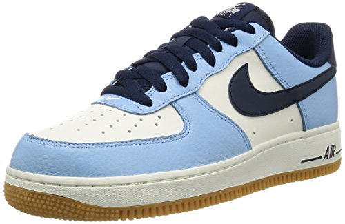 Nike Air Force 1, Scarpe da Basket Uomo Azul (Bluecap / Obsidian-Sail-Gum Light Brown)