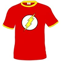 Camiseta con logo de the Flash (Bicolor) (Talla: Talla XL Unisex Ancho/Largo [58cm/76cm] Aprox]) - Comparador de precios