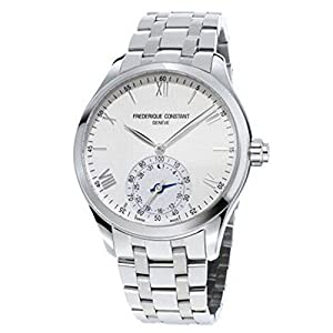 Frederique constante Horological Smart Watch Plata Dial Acero inoxidable reloj para hombre fc-285s5b6b