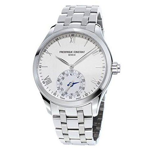 Frederique Constant Horological Smart Watch quadrante argento acciaio inossidabile orologio da uomo fc-285s5b6b by Frederique Constant