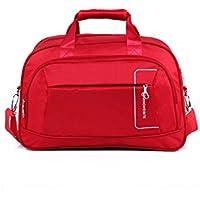 6c0876eadf395 Godlife Leicht Outdoor-Baumwolle Leinen große Kapazität Sporttasche  Sporttasche Travel Weekender Seesack (rot)