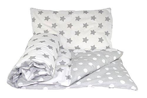 Set de ropa de cama reversible para bebé 2 piezas: funda de edredón y funda de almohada, de la marca...