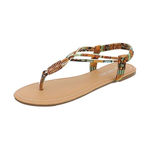 Ital-design Toe Separator Scarpe Da Donna Toe Separator Block Sandali Con Tacco A Punta E Sandali Cammello