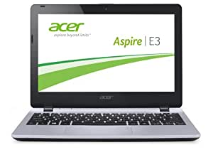 Acer Aspire E3-111-C45G 29,5 cm (11,6 Zoll) Notebook (Intel Quad Core N2930, 2,17GHz, 2GB RAM, 500GB HDD, Intel HD Graphics, Win 8.1) silber
