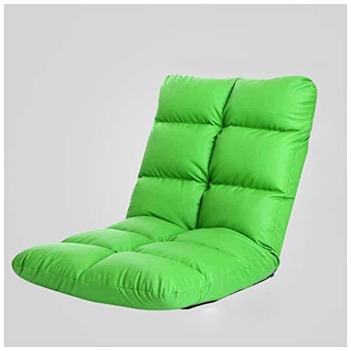 SMC Einzelnes Ledersofa Faltbare Sofa-Studie im japanischen Stil mit kleinem Sessel (Color : Green)