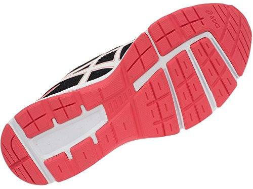 Asics Pre Galaxy 9 Ps, Chaussures de Course pour Entraînement sur Route Mixte Enfant gris foncé/blanc/rose flash