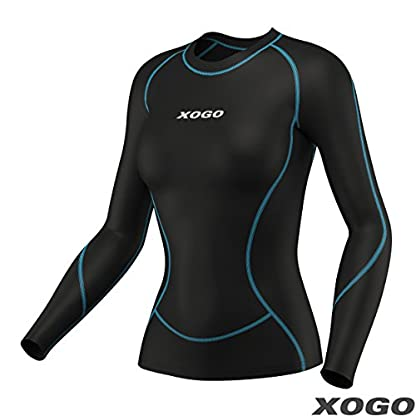 XOGO Womens Compression Base layers for All Season - Long Sleeve Compression Tops and Legging – Sports Base layers for Women - For Running, Cycling and Yoga – UV Sun Protection and 4 Way Stretch 2