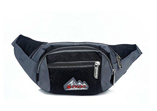 orrinsports 4-Zipper poliestere elegante Marsupio con Cintura Regolabile per, trekking, corsa, Sport, Viaggi, (Neon Viaggi Cintura)
