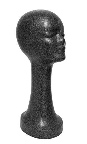 Extra Lange Schwarze Perücke (FP - Styroporkopf extra hoch - Farbe nach Wahl - TOP Marken-Qualität aus deutscher Herstellung (schwarz))