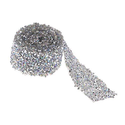 lber Strassband Diamant Band Dekoband zum Aufbügeln für Braut Kleidung, Rahmen, Vasen, Hochzeit und Party Dekoration ()
