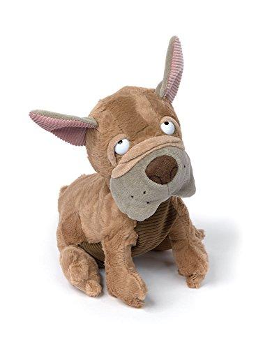 sigikid, Kuscheltier für Erwachsene und Kinder, Hund, Flying French, Sweet Beasts, Braun, 24 x 17 x 24 cm