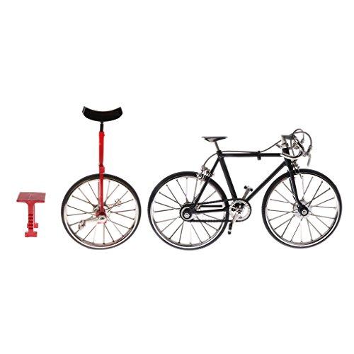 D DOLITY 2pcs 1:10 Juguetes de Modelo de Diecast Bicicleta Monociclo de Carreras de Aleación Buen Regalo para Niños