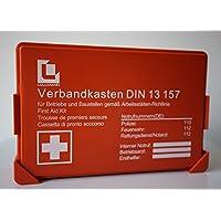 Lüllmann Betriebs Verbandkasten orange Premium Erste Hilfe Koffer DIN 13157 Verbandkasten + Wandhalter 620150SB preisvergleich bei billige-tabletten.eu