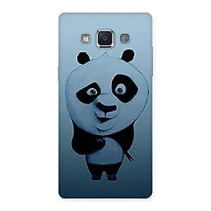 Impressive Panda Puzzled Multicolor Back Case Cover for Samsung Galaxy A5