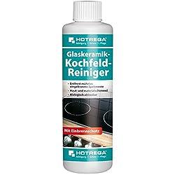 HOTREGA Glaskeramik Kochfeld Reiniger Herdplatte mühelos reinigen Herd Reiniger Herdplattenreiniger 250ml