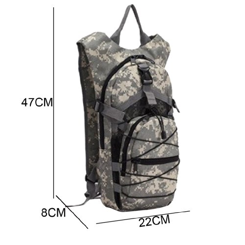 AOKALI Rucksack Nylon-Rucksack Tasche für Outdoor-Aktivitäten Rucksack Unisex - Desert Camouflage ACU Digital