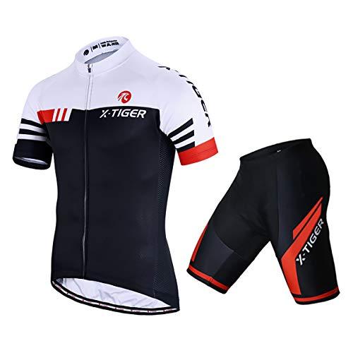 X-TIGER Homme Maillots de Cyclisme Vélo VTT Vêtements...