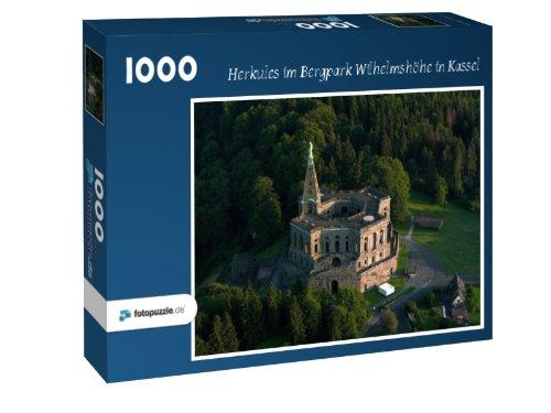 Herkules im Bergpark Wilhelmshöhe in Kassel - Puzzle 1000 Teile mit Bild von oben