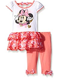 Disney Baby Girls 2 Piece Minnie Tunic with Tier Ruffle and Legging Let