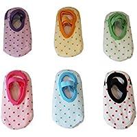 JT-Amigo Calcetines Antideslizantes para Bebés (Pack de 6 Pares)