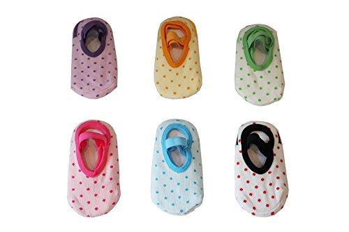 Jt-amigo - calzini antiscivolo invisibili - bambini e neonati - confezione da 6 paia