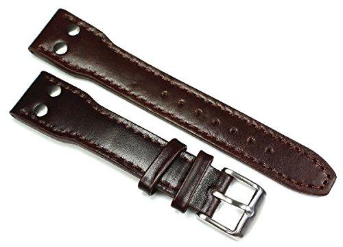 20mm Cinturino in pelle Band Aviator Aviator stile nastro adesivo ad alta...