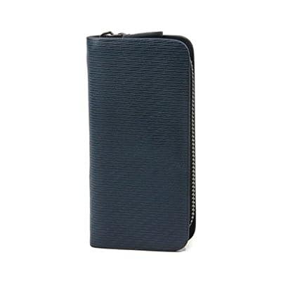ZLR Porte-monnaie en cuir de vachette Men Fashion Casual Leather Portefeuilles bleu foncé