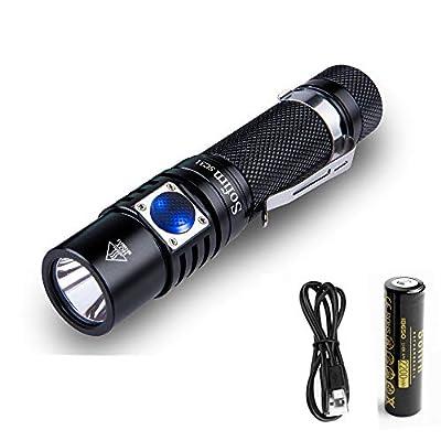 Sofirn SC31 USB wiederaufladbare Taschenlampe 18650 Batterie eingelegt, CREE XPG3 LED Maximal 610 Lumen Hell genug für Camping, Wandern, Bootfahren, Gassi gehen, edc von sofirn bei Outdoor Shop