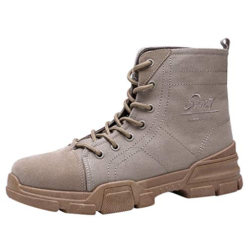 Scarpe Uomo, MEIbax Stivali Vintage Stivaletti Boots Scarpe Antinfortunistiche Stivaletti Vintage Scarpe Foderata Invernali Boots