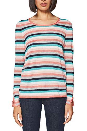 ESPRIT Damen 997EE1I805 Pullover, per Pack Rot (Coral 2 646), Large (Herstellergröße: L)
