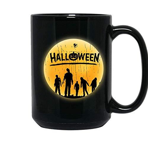 Zombie Best Halloween, Gift For Halloween Lover - 11 oz Black Coffee Tea Mug By Mirasuper