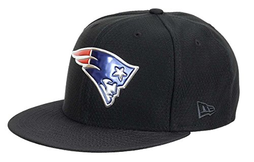 New Era New England Patriots NFL Black Collection 59fifty 5950 Fitted Cap Basecap Kappe Mens