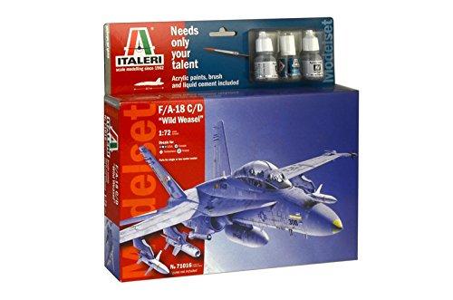 Italeri 71016 - model set: f/a-18 c/d wild weasel modellismo aerei model kit scala 1:72