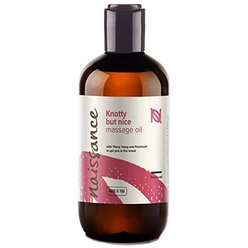 Naissance Huile de Massage Sensuelle et Aphrodisiaque « Knotty but Nice » - 250ml - Mélange 100% naturel d'huile de Pépins de Raisin et d'huiles essentielles
