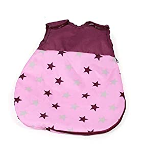 Bayer Chic 2000 794 78 - Saco de Dormir para muñecas, diseño de Estrellas, Color Rosa