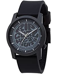 Rip Curl 2018 Cambridge Watch with Silicone Strap BLACK/GREY A2698