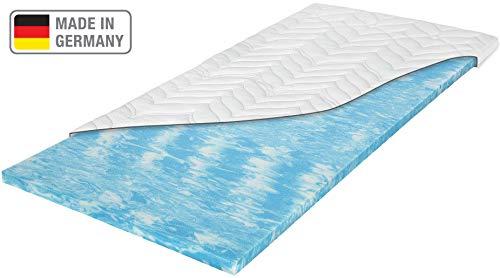 Meos® Gel-Schaum Topper 80x200 für Matratzen & Boxspringbett - Made in Germany - hohes RG 50 - Bezug bis 60°C waschbar - Matratzenauflage (80 x 200 cm)
