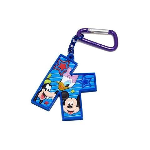 Mickey Mouse and Friends Buchstabe K Laser Cut Gummi Schlüsselanhänger