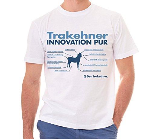 Siviwonder Unisex T-Shirt INNOVATION - TRAKEHNER Reitpferd - Pferde Fun reiten Weiß