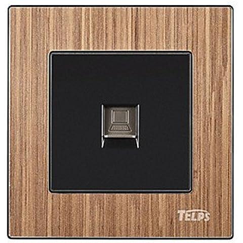 HF- telps mp-019 una porta di rete interruttore specchio di cristallo legno pannello presa del computer - Porta Specchio Ottica