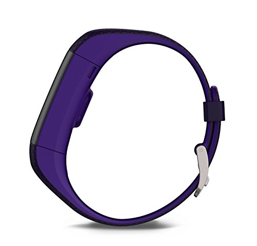 Garmin Vivosmart HR+ GPS Fitness Activity Tracker with Smart Notifications and Wrist Based Heart Rate Monitor - Regular, Purple