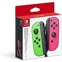 Nintendo - Set De Dos Mandos Joy-Con, Color Verde Neón / Rosa Neón (Nintendo Switch)