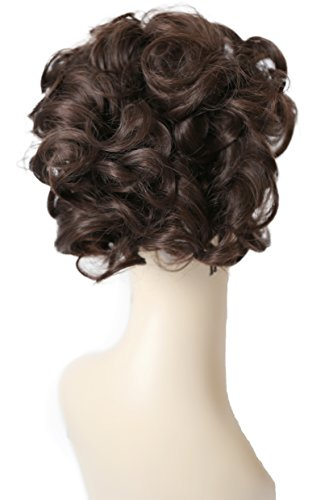 PRETTYSHOP Dutt Haarteil Zopf Haarknoten Hepburn-Dutt Haargummi Hochsteckfrisuren braun #10 HK106