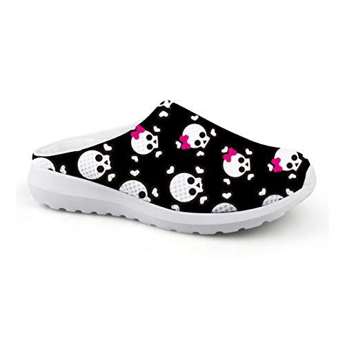 Dulce Calavera Mujer Jardín Zapatos Clogs Pantoletten Zapatillas...